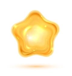 shiny 3d star vector image