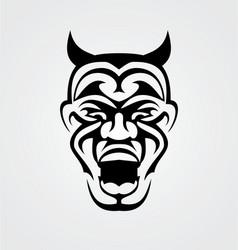 Tribal Devil Face vector image