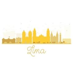 Lima City skyline golden silhouette vector image vector image