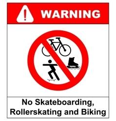 No roller blade scooter roller skater or vector image