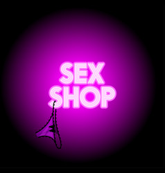 sex shop neon logo vector image