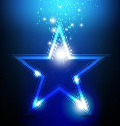 shiny star celebration vector image