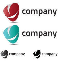 A very modern fresh and trendy logo for your compa vector