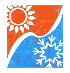 air conditioning banner vector image