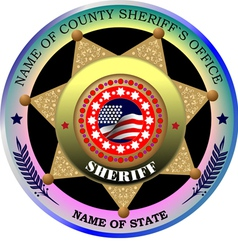Al 0217 sheriff badge vector