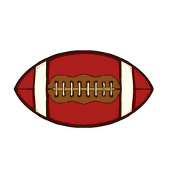 american football ball isolated equipment game vector image