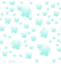 azure soap bubbles seamless pattern vector image