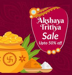 Banner design akshaya tritiya sale vector