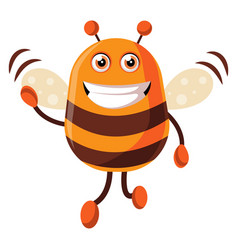 bee is waving on white background vector image