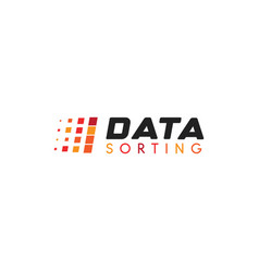 big data base emblem data sorting vector image