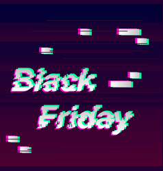 black friday glitch vector image