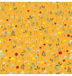 Blossoming Field Orange seamless pattern vector image