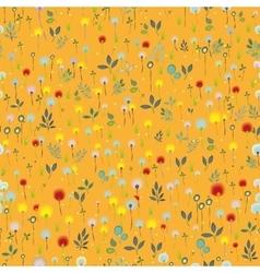 Blossoming Field Orange seamless pattern vector