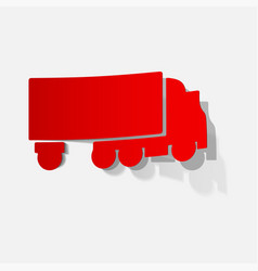 Box truck mock up for advertising corporate vector