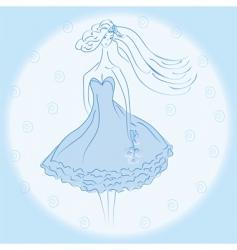 bride portrait vector image