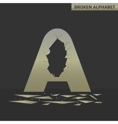 Broken A letter vector image