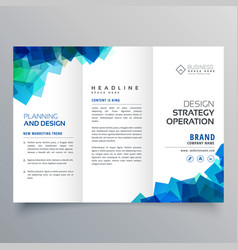 Business trifold brochure layout template with vector
