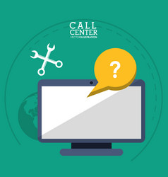 Call center computer support tools vector