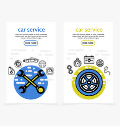 car service vertical banners vector image