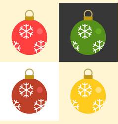 christmas balls set collection vector image