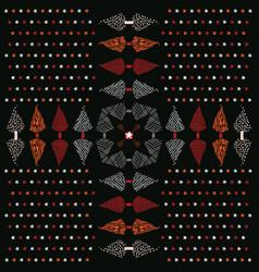 christmas folk art tree cross vector image