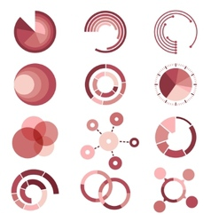 Circle diagrams templates collection for vector image
