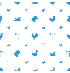 Cockerel icons pattern seamless white background vector