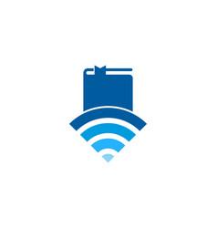 Connectivity book logo icon design vector