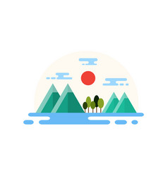 Countryside landscape flat design vector