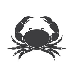 Crab silhouette isolated vector