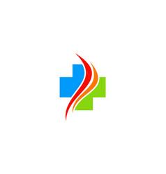 Cross medic hospital logo vector