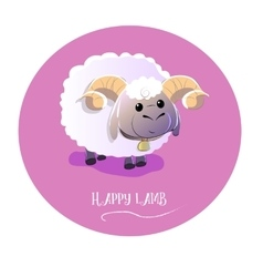 cute lamb on isolated background vector image