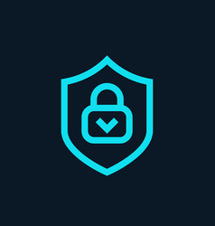 Cybersecurity icon online protection symbol vector