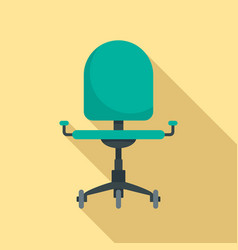 desk chair icon flat style vector image