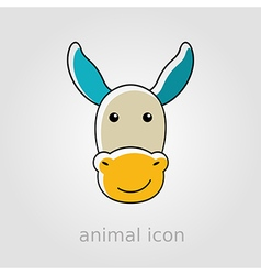 Donkey icon farm animal vector