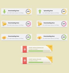 download and upload buttons set vector image