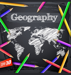 Education geographic background vector