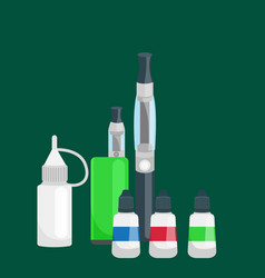 electronic cigarette leather and metal bottled vector image