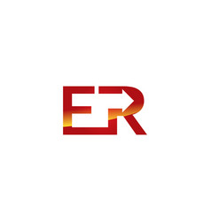 er letter logo vector image