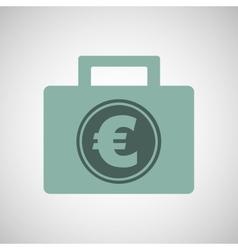 euro finance bag vector image