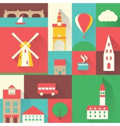 Europe city set vector