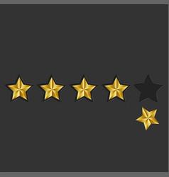 feedback 5 golden stars loss reputation online vector image