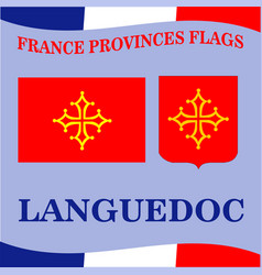 Flag of french province languedoc vector
