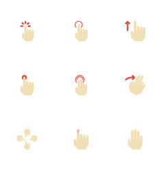 Flat icons touchscreen nudge double click and vector