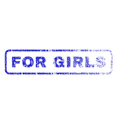 For girls rubber stamp vector
