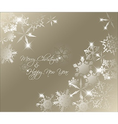 Golden abstract Christmas background vector