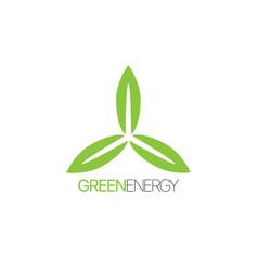 green energy label vector image