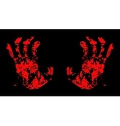 Hands Bloody vector