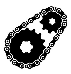 Industrial chain sprocket silhouette vector
