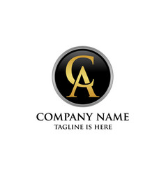initial luxury ca or ac letter logo design vector image